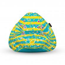 Fotoliu Units Puf (Bean Bags) tip para, impermeabil, cu maner, 100x80x70 cm, candies fundal in dungi