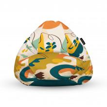Fotoliu Units Puf (Bean Bags) tip para, impermeabil, cu maner, abstract jungle