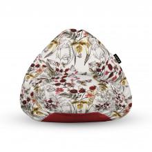 Fotoliu Units Puf (Bean Bags) tip para, impermeabil, cu maner, flori si fluturi