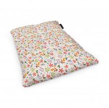 Fotoliu Units Puf (Bean Bags) tip perna, impermeabil, alb cu flori multicolore
