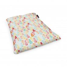 Fotoliu Units Puf (Bean Bags) tip perna, impermeabil, alb cu pere multicolore