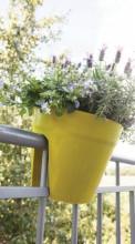 Ghiveci pentru balustrada balcon din plastic verde