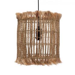 Lustra Bazar Bizar Bird Cage M, Natural, Iarba de Abaca, 32x33x35 cm