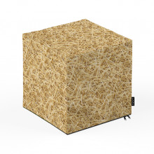 Taburet Units, cub, paie, 30 x 30 x 30 cm