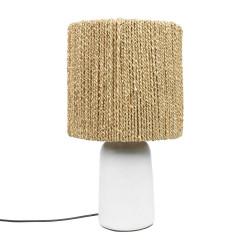 The Chalki Table Lamp - White Natural, , 30x30