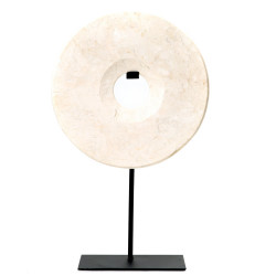 The Marble Disc on Stand - White - L, Bazar Bizar, L