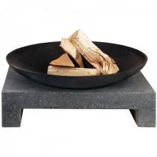 Cos de foc de exterior de fonta cu baza de granit