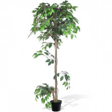 Ficus artificial cu aspect natural si ghiveci, 160 cm