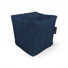 Fotoliu Units Puf (Bean Bags) tip cub, impermeabil, albastru inchis si linii bej