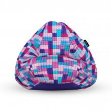 Fotoliu Units Puf (Bean Bags) tip para, impermeabil, cu maner, 100x80x70 cm, lego tetris mov