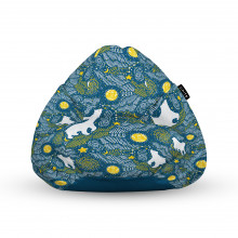 Fotoliu Units Puf (Bean Bags) tip para, impermeabil, cu maner, 100x80x70 cm, ursi polari