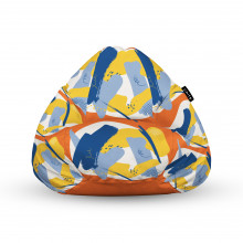 Fotoliu Units Puf (Bean Bags) tip para, impermeabil, cu maner, abstract retro