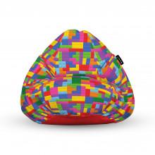 Fotoliu Units Puf (Bean Bags) tip para, impermeabil, cu maner, lego tetris