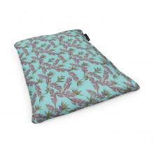 Fotoliu Units Puf (Bean Bags) tip perna, impermeabil, cian cu frunze gri