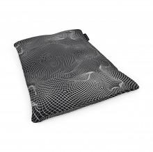 Fotoliu Units Puf (Bean Bags) tip perna, impermeabil, topografic negru