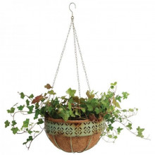 Ghiveci cu suport suspendabil si elemente decorative