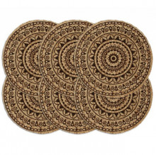 Naproane, 6 buc., maro inchis, 38 cm, iuta, rotund