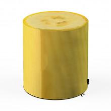Taburet Units, cilindru, banana, 42 x 45 cm
