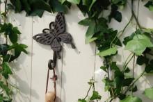 """Cuier din fier pentru perete 1 agatatoare """"Fluture"""""""