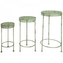 Set 3 suporturi vintage pentru ghivece