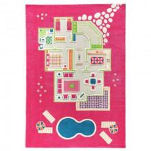 Covor copii 3D interactiv Casa papusii roz 160x230 cm