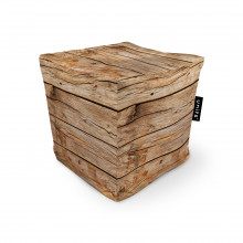 Fotoliu Units Puf (Bean Bags) tip cub, impermeabil, lemn maro deschis
