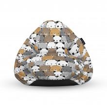 Fotoliu Units Puf (Bean Bags) tip para, impermeabil, cu maner, 100x80x70 cm, ursuleti maro