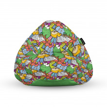 Fotoliu Units Puf (Bean Bags) tip para, impermeabil, cu maner, 100x80x70 cm, broscute