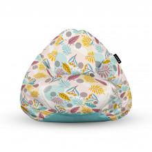 Fotoliu Units Puf (Bean Bags) tip para, impermeabil, cu maner, multicolor cu frunze