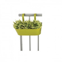 Jardiniera de balustrada din metal verde
