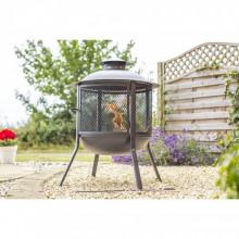 RedFire Vatra de foc Kansas, negru, otel, rotund, 85019