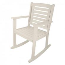 Scaun balansoar din lemn alb pentru exterior