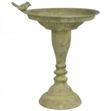 Suport metalic cu picior pentru hrana pasari verde antic