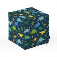 Taburet Units, cub, Dinozauri, 30 x 30 x 30 cm