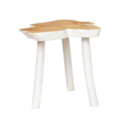 The Organic Side Table - Natural White, ,