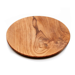 The Teak Root Round Plate - L, Bazar Bizar, L