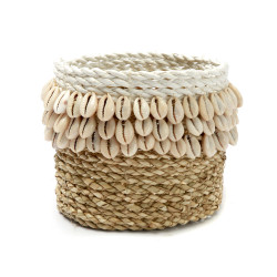 The Weaved Cowrie Cos #1 - Natural White, Bazar Bizar,
