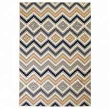 Covor modern Design zigzag 180x280 cm Maro/negru/albastru