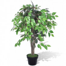 Ficus artificial cu aspect natural si ghiveci, 90 cm