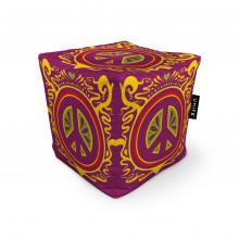 Fotoliu Units Puf (Bean Bags) tip cub, impermeabil, hippie groove