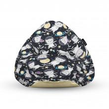 Fotoliu Units Puf (Bean Bags) tip para, impermeabil, cu maner, 100x80x70 cm, pisici in spatiu