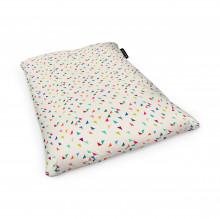 Fotoliu Units Puf (Bean Bags) tip perna, impermeabil, bej cu triunghiuri multicolore