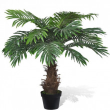 Palmier Cycas artificial cu aspect natural si ghiveci 80 cm