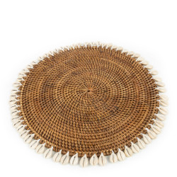 The Colonial Shell Placemat - Natural Brown, Bazar Bizar,