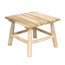 The Island Side Table - Natural, , 50x50