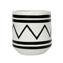 The Santorini Planter - White Black, ,