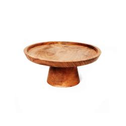 The Teak Root Cake Dish - S, Bazar Bizar, S