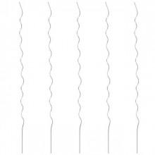 Spirale pentru suport plante, 5 buc., 110 cm, otel galvanizat