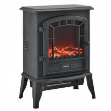 [casa.pro]® Fire Semineu electric AASL-6202, 39 x 24 x 56,5 cm, 1000 / 2000W, plastic, metal, sticla, negru