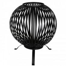 Esschert Design Bol pentru foc, negru, benzi otel carbon FF400